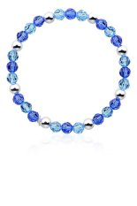 Promo Silverdragon Charm Bracelet With Swarovski® Elements Blue Mixed