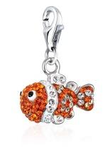 Miliki Segera Silverdragon Clown Fish Charm With Swarovski® Elements