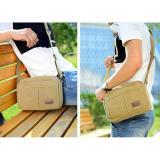 Beli Simple Stylish Tas Selempang Pria Kanvas Tas Santai Shoulder Bag Sc024 Black