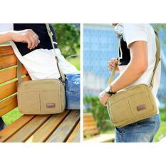 Harga Simple Stylish Tas Selempang Pria Kanvas Tas Santai Shoulder Bag Sc024 Brown Lengkap