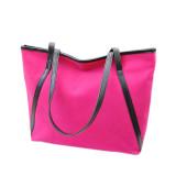 Harga Simple Winter Larger Capacity Leather Suede Wanita Tas Messenger Hot Pink Intl Asli