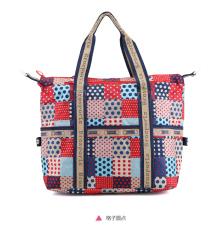 Sinar matahari gadis br106 kapasitas besar Messenger tas bahu asli tas wanita (Kotak-kotak