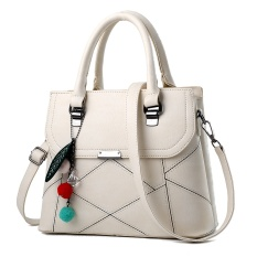 Singapore tide brand trumpet CK simple classic all-match bag solid diagonal Single Shoulder Bag - type portable mini Beige