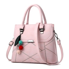 Singapore tide brand trumpet CK simple classic all-match bag solid diagonal Single Shoulder Bag - type portable mini Light pink