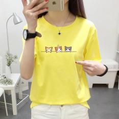 Kaos Korea Modis Gaya Remaja Baju Dalaman Siswa (Warna Kuning Emas)
