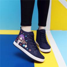 Review Siswa Sekolah Dasar Sekolah Menengah Sma Papan Sepatu Sepatu Kanvas E22 Biru Sepatu Kain Kode Standar Other