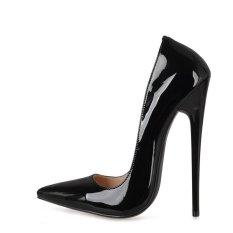 Jual Ukuran 38 44 Gaun Club Pernikahan Sepatu Ekstrim High Heels 16 Cm Sepatu Untuk Wanita Pria Pompa Valentine Shoes Pompa Seksi Hitam Intl Online Di Tiongkok