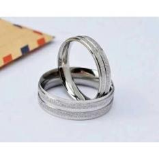 Size Jumbo Cincin Titanium Paris Silver Garis.Free Ukir Nama - 3Be6d6