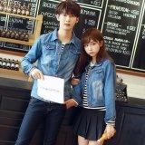 Beli Ukuran S 4Xl Baru Korea Fashion Pecinta Dicuci Denim Pakaian Pasangan Jeans Jacket Women Biru Muda Internasional Oem