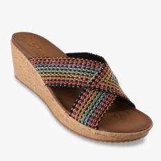 Ulasan Skechers Beverlee Delighted Women S Wedges Multi Warna