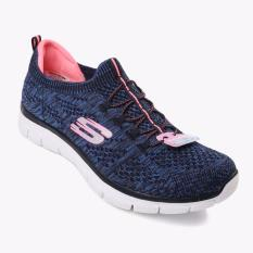 Toko Skechers Knit Empire Sharp Thinking Women S Running Shoes Navy Jawa Barat