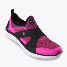 Toko Skechers Flex Appeal 2 New Image Women S Running Shoes Pink Hitam Online Indonesia