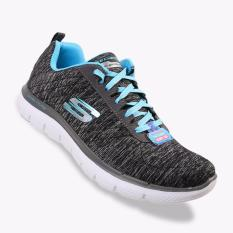 Diskon Skechers Flex Appeal 2 Women S Sneakers Shoes Black Light Blue Skechers