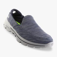 Toko Skechers Gowalk 3 Men S Sneakers Abu Abu Navy Indonesia