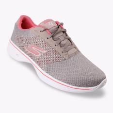Jual Skechers Gowalk 4 Exceed Women S Sneakers Taupe Coral Original