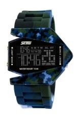Toko Skmei Combat Army Biru Jam Tangan Pria Strap Karet 0817 Army Blue Edition Free Box Jam Tangan Flash Online