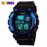 Spesifikasi Skmei Robo Biru Jam Tangan Pria Strap Karet 1054 Sport Blue Free Box Jam Tangan Flash Online