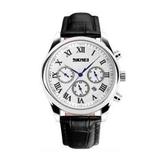 Harga Skmei Rotator Hitam Putih Jam Tangan Pria Tali Kulit 9078 Black White Edition Free Box Jam Tangan Flash Seken