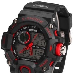 Spesifikasi Skmei S Shock Men Sport Led Watch Water Resistant 50M Jam Tangan Pria Hitam Strap Rubber Ad1029 Murah