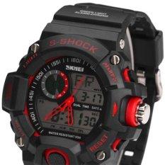 Promo Skmei S Shock Men Sport Led Watch Water Resistant 50M Jam Tangan Pria Hitam Strap Rubber Ad1029 Skmei Terbaru