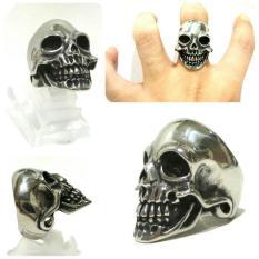 Skull Ring Titanium Cincin Tengkorak Grosir Cincin Smile Jhon - Jccdg3