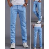 Toko Sky Blue 2016 Musim Panas Musim Gugur Baru Pria Bisnis Kasual Slim Pants Solid Celana Fashion Lurus Pria Kargo Celana Pria S Ukuran Pakaian 28 38 Online Di Tiongkok