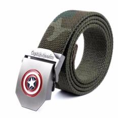 Harga Skytop Ikat Pinggang Logo Captain America Ikat Pinggang Canvas Ikat Pinggang Pria Army Green Online Dki Jakarta