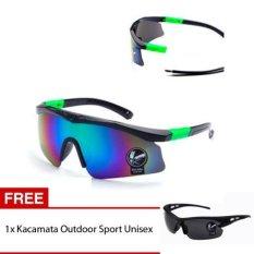 Skytop Kacamata Sport Outdoor Unisex Kacamata Sepeda Kacamata Olahraga Free 1 Item Kacamata