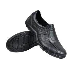 Spesifikasi Skytop Sepatu Kerja Pantofel Karet Sepatu Formal Pria Hitam Merk Domino