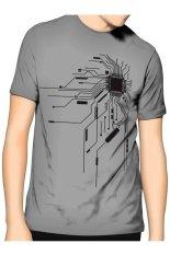 Spesifikasi Slim And Fit Chip T Shirt Grey Yang Bagus