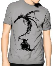 Review Slim And Fit Dragon T Shirt Abu Abu Terbaru
