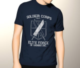 Beli Slim And Fit Shinra T Shirt Dark Blue Yang Bagus