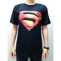 Harga Slim And Fit Superman T Shirt Hitam Original