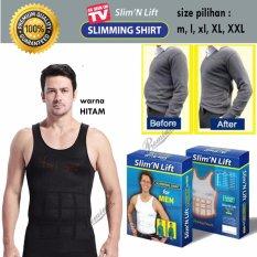 Slim N Lift Body Shaping for Men [HITAM] / Baju Singlet / Baju Pelangsing Pria / Baju Perut Buncit [HITAM]