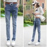 Diskon Slim Wanita Jeans Casual Harlan Elastis Pinggang Celana Korea Slim Celana Intl Branded