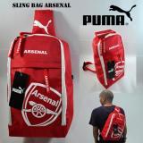 Katalog Sling Bag Arsenal Merah Lis Putih Hand Made Terbaru