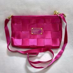 Jual Sling Bag Tas Selempang Mini Bag Fashion Wanita Motif Tikar Pink Tua 1Pc Lolee Peer Grosir