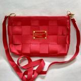 Diskon Sling Bag Tas Selempang Mini Bag Fashion Wanita Motif Tikar Red 1Pc Akhir Tahun