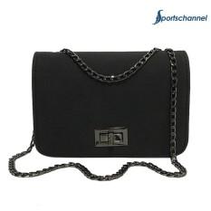 Sling Shoulder Crossbody Bag Hasp Solid Chain Women Bag Messenger Handbags - intl