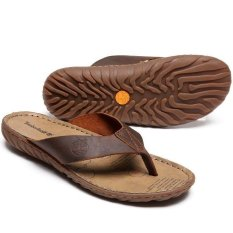 Cuci Gudang Sandal Untuk Timberland Musim Panas Flip Flops Pria Coklat Intl