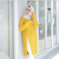Slit Knit Sweater Rajut Wanita Premium Lemon Promo Beli 1 Gratis 1