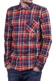 Harga Sm Basic Kemeja Flannel Motif Kotak Merah Biru Kuning Fullset Murah