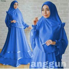 SM Grosir SM3010  Baju Muslim / Bahan Premium / Long Dress Gamis / Setelan Gamis / Gamis Syari / Baju Wanita / Gamis Cantik / Karet List Pita