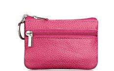Dimana Beli Kecil Dompet Koin Kunci Kulit Dompet Case Mini Ritsleting Tas Pemegang Kartu Rose Red Intl Oem