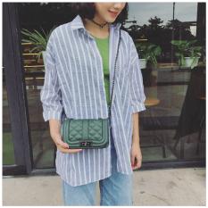 Beli Small Fragrant Wind Korea Fashion Style Perempuan Baru Bahu Kecil Tas Tas Hijau Gelap Nyicil