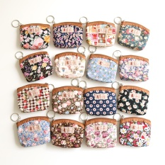 Small pocket packet day the skill small change of floral pattern cloth wrap a female to revive old customs small square coin of mini zipper to wrap - intl
