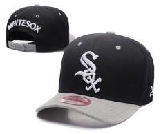 Snapback Caps Chicago White Sox Baseball Caps Offical Sport Hats Unisex MLB Men Women Beat-Boy Bone Outdoor ( Black ) - intl