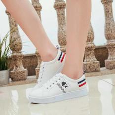 Sneakers / Sepatu Kets Wanita France Kumis - Putih
