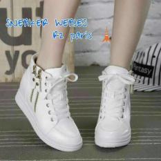 Sneakers Wedges Haika 2Z Putih Dan Hitam - D9becc