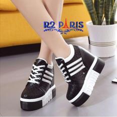 R2 Paris Sepatu Sneakers Wedges Cat Miau Putih - Daftar Harga ... 70503c73e6